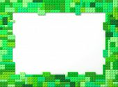 Toy Bricks Picture Frame - Green