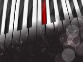 Music concept with piano, can be use as flyer, poster, banner or background for musical parties and