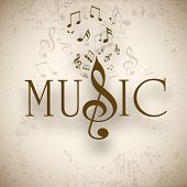 Musical background with musical notes, can be use as flyer, poster or banner in concerts and parties