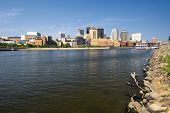 Saint Paul skyline and Mississippi river, St. Paul, Minnesota, USA