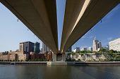 Saint Paul skyline from beneath the Wabasha Street Freedom Bridge, Saint Paul, Minnesota