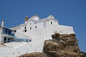 The church of Panagia tou Pyrgou in Skopelos Town on the Greek island of Skopelos.
