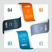 Modern business infographics options for banners, web, layouts etc. Vector eps10 illustration