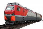 The image of modern locomotive