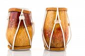 African drums isolated over white background