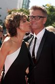 LOS ANGELES - SEP 15:  Lisa Rinna, Harry Hamlin at the Creative Emmys 2013 - Arrivals at Nokia Theat
