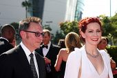 LOS ANGELES - SEP 15:  Michael Emerson, Carrie Preston at the Creative Emmys 2013 - Arrivals at Noki