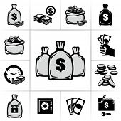 stock photo of million-dollar  - Money bags - JPG
