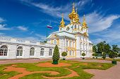 picture of cupola  - Church of Saints Peter and Paul in Peterhof - JPG