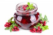 Cowberry Jelly In Jar