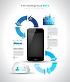 Infographics concept background to display your data in a stylish way. Clean detailaed design for st