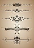 Decorative calligraphic elements