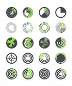 Different indicators vector collection