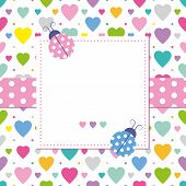 ladybugs and hearts greeting card