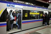 TEHRAN, IRAN - NOVEMBER 24, 2007:  Underground station in Tehran Metro has separate compartments  wo