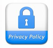 privacy policy terms of use for data and personal information protection. Safety icon label or sign.