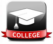 college education and knowledge learn to know educate yourself and go to school icon or button