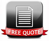Get a free quote button or icon