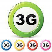 Vector Icons Of 3G