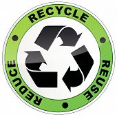 Recycle Round Sign