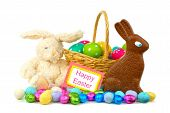 Happy Easter decor and candy