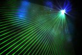 Digitally generated laser background in green