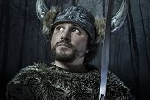 foto of viking  - Viking warrior - JPG