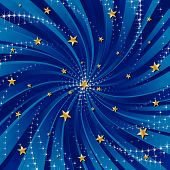 Abstract Festive Background with Stars