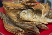 Cooked whole fish at Asian street market