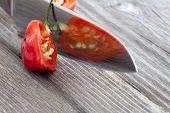 Close-up Of Half A Habanero Chili Pepper