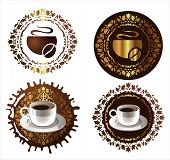 Coffee Design Elements. Vector Illustration