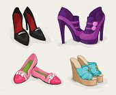 picture of ankle shoes  - Fashion collection of classic woman - JPG