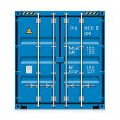 Freight shipping, cargo container. Vector.