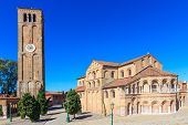 Murano, Santa Maria And San Donato Cathedral With Campanile, Venice, Italy