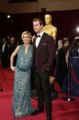 LOS ANGELES - MAR 2:: Elsa Pataky, Chris Hemsworth  at the 86th Annual Academy Awards at Hollywood &