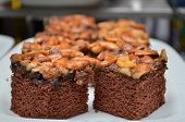 picture of toffee  - Toffee cake cut sweet bakery buffee restuarant