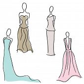 An image of formal gown designs.