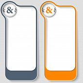 stock photo of ampersand  - set of two vector text boxes with ampersand - JPG