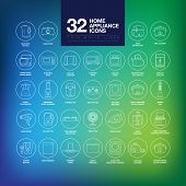Home Appliances Icons Thin