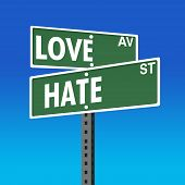 Road Sign- Love-Hate