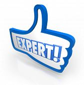 Expert Thumbs Up Approval Great Rating Skills Expertise