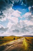 Cloudscape over land