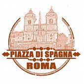Piazza Di Spagna Roma Stamp
