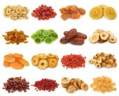 stock photo of dry fruit  - Dried fruits collection - JPG