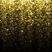 stock photo of starry  - Gold sparkle glitter background - JPG