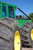 stock photo of skidder  - cable forest tractor - JPG