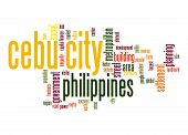 stock photo of cebu  - Cebu City word cloud image with hi - JPG