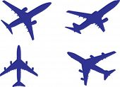 generic plane silhouettes, in vector format