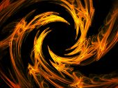 fire swirl - abstract design element, hq render