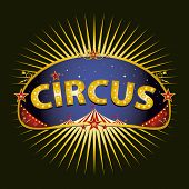 Circus marquee. A circus sign in the night for your entertainment